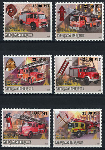 Special Transport History Firefighters Truck Transportation Serie Set MNH