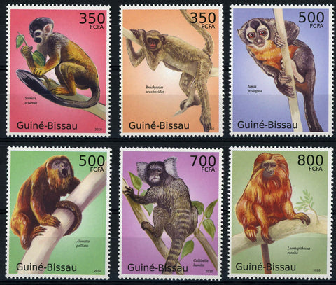 Macaque Monkey Wild Animal Serie Set of 6 Stamps Mint NH