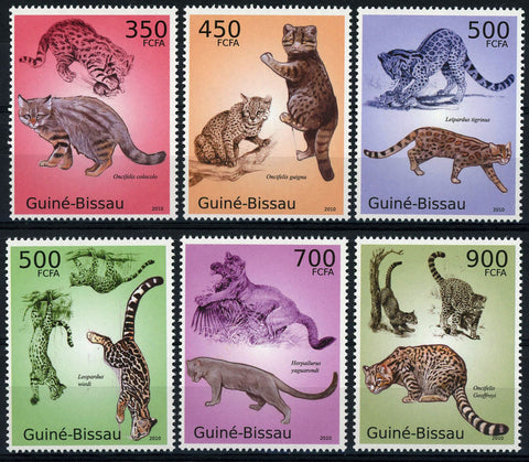 Wild Cat Animal Branch Serie Set of 6 Stamps Mint NH