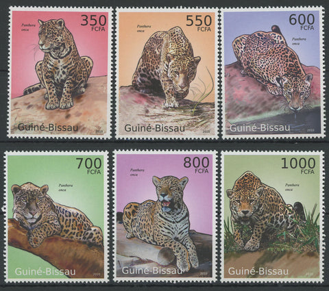Jaguars Panthera Onca Serie Set of 8 Stamps Mint NH