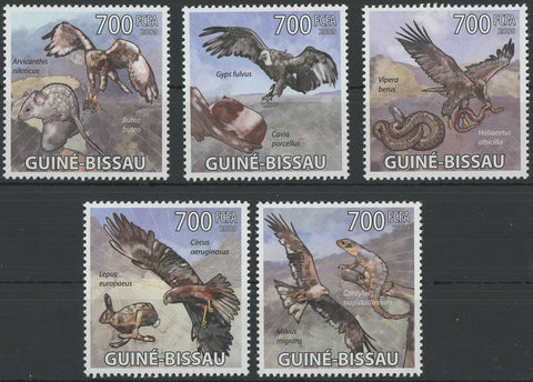 African Bird of Prey Snake Mouse Serie Set of 5 Stamps Mint NH