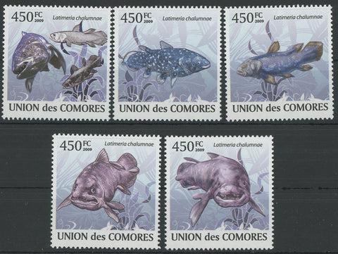 Coelacanth Fauna Fish Marine Life Serie Set of 6 Stamps Mint NH