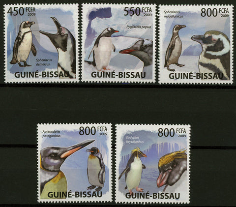 Penguin Bird Ocean Snow Winter Serie Set of 5 Stamps Mint NH