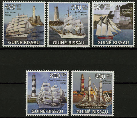 Famous Sailboats and Lighthouses Ocean Serie Set of 5 Stamps Mint NH