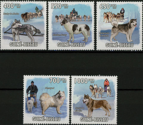 Sled Dogs Alaskan Husky Serie Set of 5 Stamps Mint NH