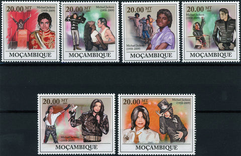 Michael Jackson Pop Singer Famous People Serie Set of 5 Stamps Mint NNH