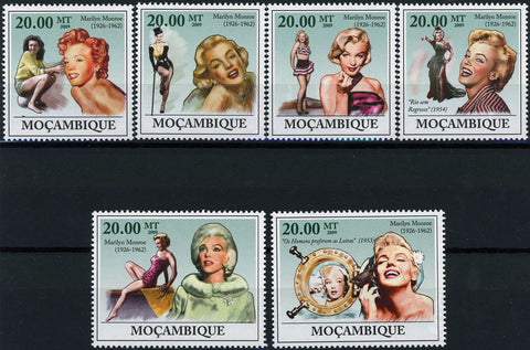 Marylin Monroe Famous People Actress Serie Set of 2 Stamps Mint NH