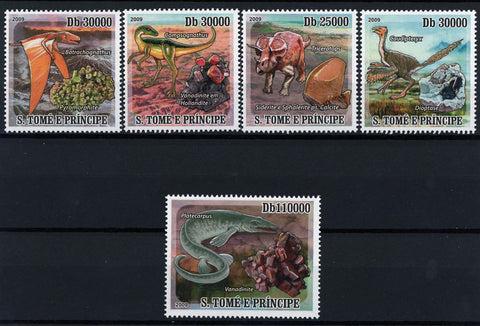 Dinosaur and Mineral Pre Historic Animal Nature Serie Set MNH