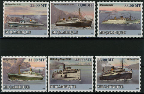 Maritime Transport SS Ocean Marine Mountain Serie Set of 6 Stamps MNH