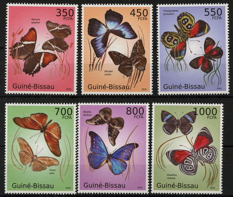 Insect And Flora Butterfly Serie Set of 6 Stamps Mint NH