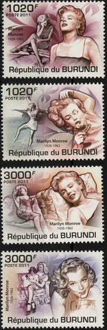 Marylin Monroe Famous Characters Actress Serie Set of 4 Stamps Mint NH