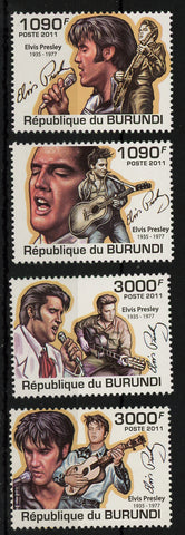 Elvis Presley Rock n' Roll Singer Famous Signature Serie Set of 4 Stamps MNH