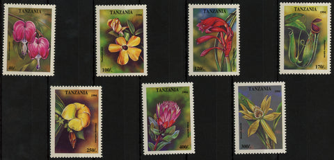 Tanzania Flora Flower Plant Serie Set of 7 Stamps Mint NH