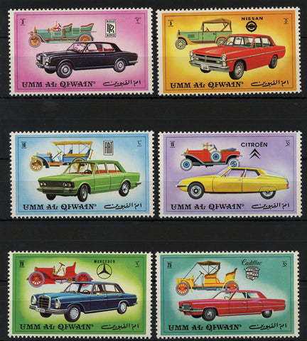 Classic Antique Car Automobile Mercedes Serie Set of 6 Stamps MNH