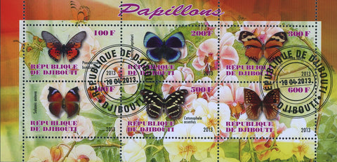 Butterfly Insect Plant Flower Souvenir Sheet of 6 Stamps