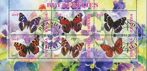 Butterfly Insect Plant Flower Souvenir Sheet of 6 Stamps MNH