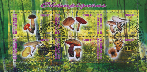 Mushroom Forest Nature Souvenir Sheet of 6 Stamps