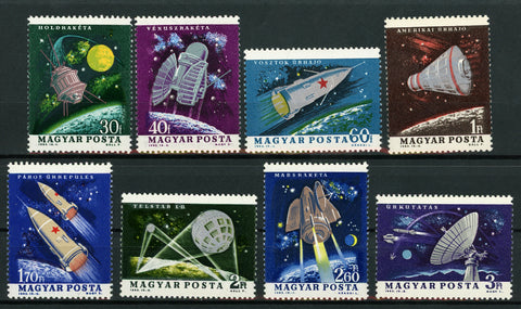 Hungary 1964 Space Research Complete Set of 8 Stamps Mint NH