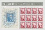 USA Pacific '97 George Washington Mint Sheet of 12 Stamps SC. #3139-40 Mint NH