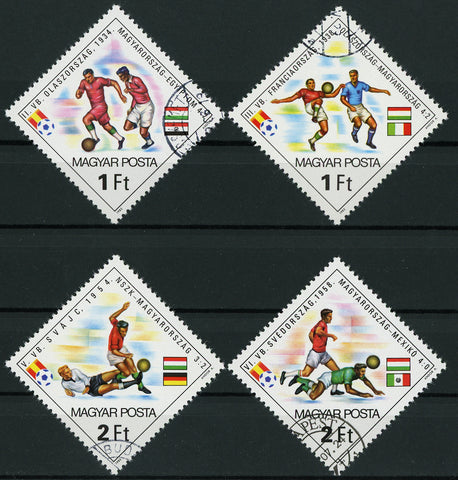 Hungary World Cup Spain Mexico Germany Italy Serie Set of 4 Mint NH