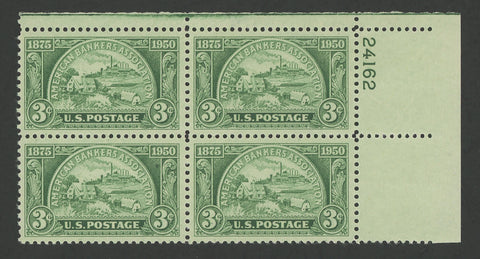 USA Stamp American Bankers Association US Postage 1850 1975 Block of 4 MNH