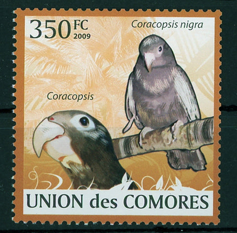 Parrots Coracopsis Nigra Bird Individual Stamp Mint NH