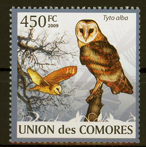 Owl Tyto Alba Bird Fly Individual Stamp Mint NH