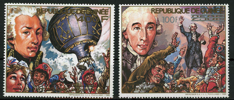 Marquis de Lafayette Gilbert du Motier Serie Set of 2 Stamps Mint NH