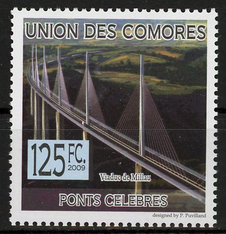Famous Bridge Millau Viaduct Architecture Individual Stamp Mint NH