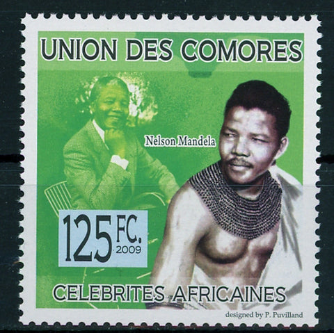 African Celebrities Famous Nelson Mandela Individual Stamp Mint NH