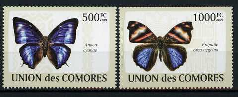 Butterflies Nature Insects Anaea Cyanae Serie Set of 2 Stamps Mint NH