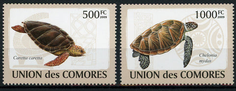 Turtle Caretta Caretta Marine Fauna Serie Set of 2 Stamps Mint NH
