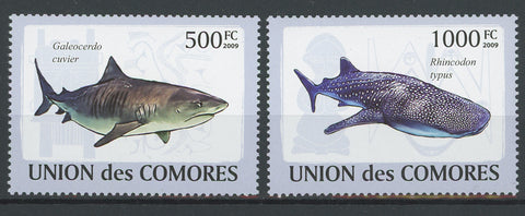 Shark Fish Ocean Fauna Marine Serie Set of 2 Stamps Mint NH