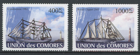 Tall Ships Sailing Vessel Ocean Serie Set of 2 Stamps Mint NH