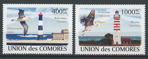 Famous Lighthouse Bird Ocean Serie Set of 2 Stamps Mint NH