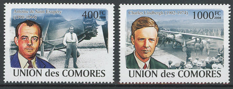 Aviator Airplane Pilot Serie Set of 2 Stamps Mint NH
