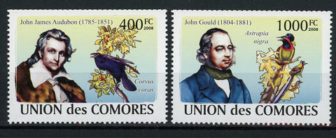 John James Audubon John Gould Bird Serie Set of 2 Stamps Mint NH