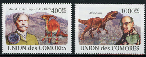 Paleontologist Dinosaur Serie Set of 2 Stamps Mint NH