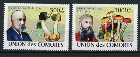 Mycologist Fungi Mushrooms Science Serie Set of 2 Stamps Mint NH