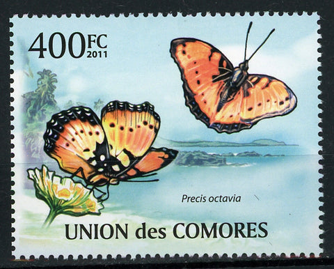 Butterflies Nature Insect Flower Individual Stamp Mint NH