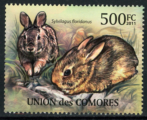 Comoros Rabbit Mammal Forest Wild Individual Stamp Mint NH