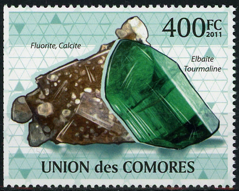 Mineral Fluorite Calcite Individual Stamp Mint NH