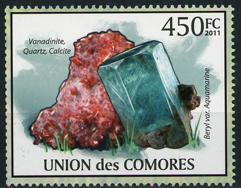Mineral Vanadinite Quartz Calcite Individual Stamp Mint NH