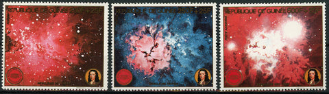 Guinea Nebula Science Astronomy Galaxy Space Serie Set of 3 Stamps Mint NH