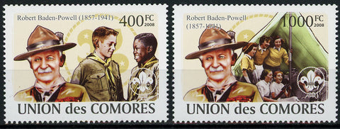 Robert Baden Powell Scout Serie Set of 2 Stamps Mint NH