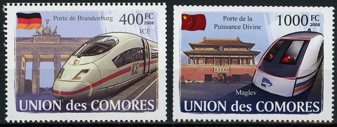 High Speed Train Arc Serie Set of 2 Stamps Mint NH