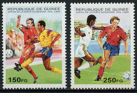Guinea Soccer Football Sport Serie Set of 2 Stamps Mint NH