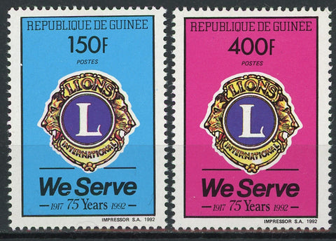 Guinea We Serve 75 Anniversary Serie Set of 2 Stamps Mint NH