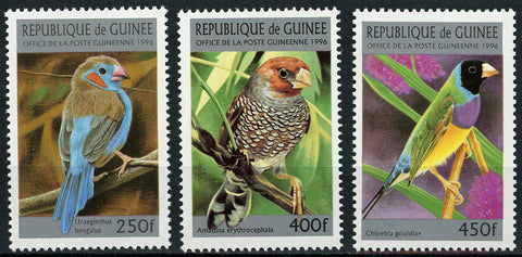 Guinea Bird Exotic Animal Branch Nature Serie Set of 3 Stamps Mint NH