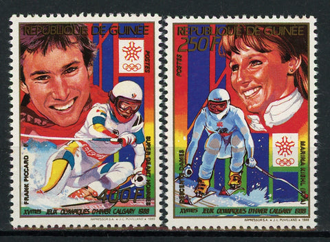 Guinea Ice Skating Olympics Championship Sport Serie Set of 2 Stamps Mint NH